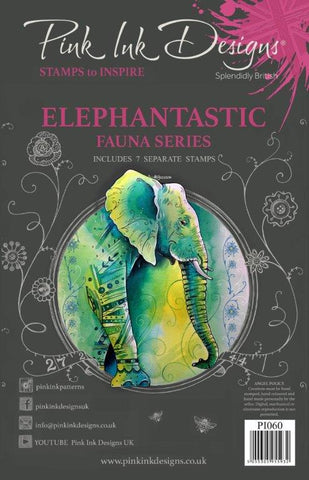 Elephantastic Fauna Series 7 Stamps Set By Pink Ink Designs PI060