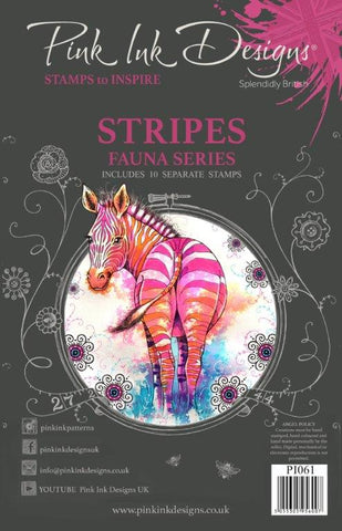 Stripes Fauna Series 10 Stamps Set By Pink Ink Designs PI061