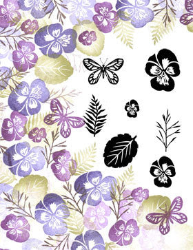 Plentiful Pansies Majestix Clear Peg Stamp Set By Card-io