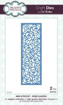 Rose Garden Mini Striplet Craft Dies by Sue Wilson Creative Expressions CED1612