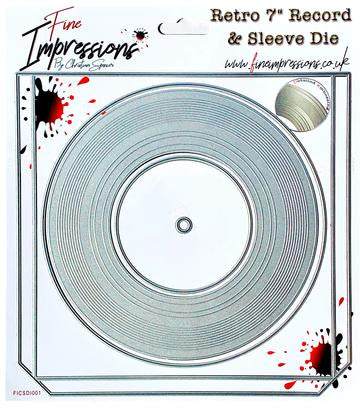 Retro 7 Inch Record & Sleeve Die From Fine Impressions By Christian Spencer