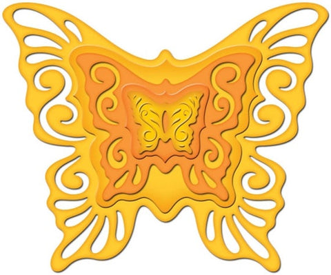 Nested Butterflies Two Shapeabilities Dies by Spellbinders S4-320