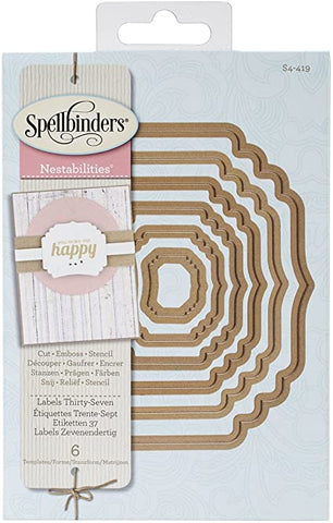 Labels Thirty Seven Nestabilities Dies by Spellbinders S4-419