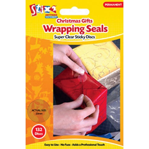 Permanent Christmas Wrapping Seals 132 pack
