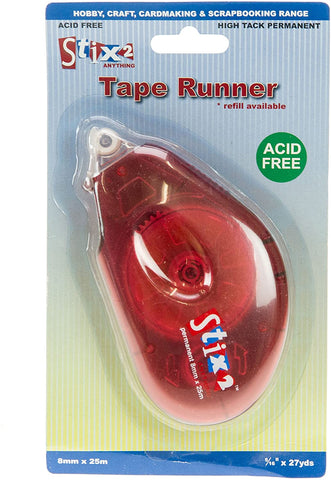 Tape Runner Refillable Acid Free Permanent Glue Tape Pen 25m Stix2 S57269