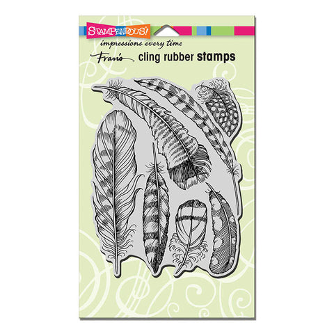 Feathers Cling Rubber Stamp By Stampendous CRR309