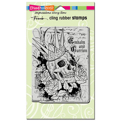 Cling Crowned Skull Stampendous Fran's Cling Rubber Stamps CRR311