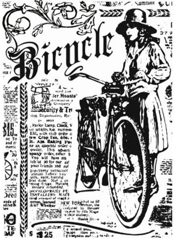 Bicycle Background Advert Clear Stamp By Sharon Callis SCCSA6013