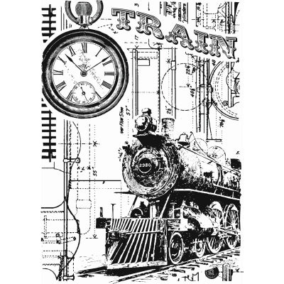 Train Background Clear Stamp By Sharon Callis SCCSA6014