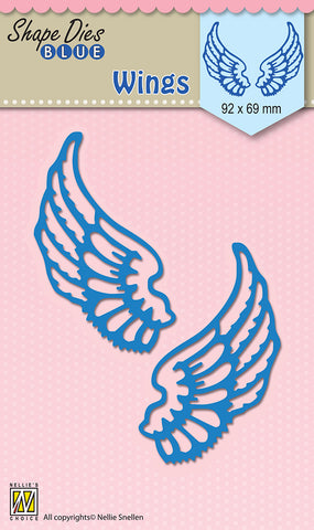Wings - Shape Dies Blue By Nellie Snellen SDB061