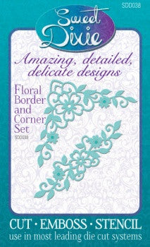 Floral Border & Corner Set Sweet Dixie SDD038