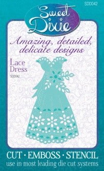 Lace Dress Die By Sweet Dixie Personal Impressions SDD042