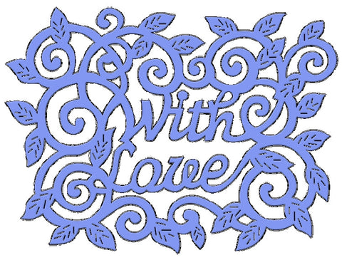 Sweet Dixie Die With Love Swirls And Leaves SDD106