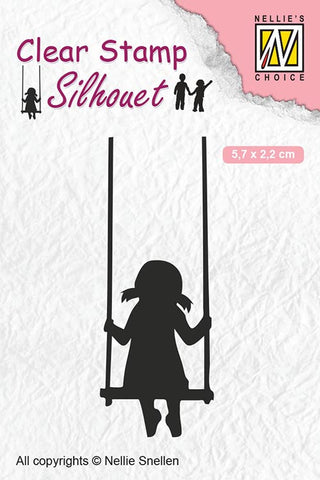 Swinging Child's Play Nellie Snellen Clear Stamps Silhouette SIL045