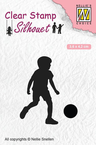 Football Player Clear Stamps Silhouette Child's Play Nellie Snellen SIL049