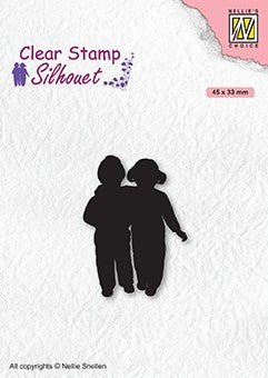 Close Friends Nellie Snellen Clear Stamps Silhouette SIL075