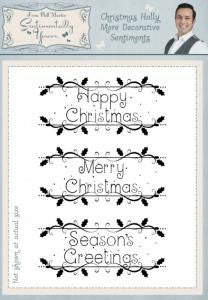 Christmas Holly More Decorative Sentiments A5 Clear Stamp Set By Phill Martin