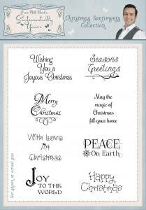 Christmas Sentiments Collection Clear Stamp Set By Phill Martin