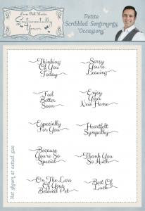 Petite Scribbled Sentiments Occasions A5 Clear Stamp Set By Phill Martin
