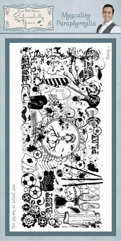 Masculine Paraphernalia Rubber Stamp From Phill Martin Sentimentally Yours SYR012