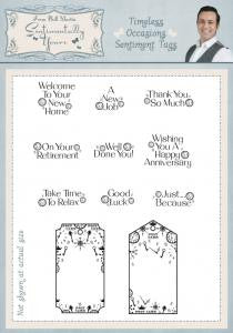 Timeless Occasions Sentiment Tags Clear Stamp Set By Phill Martin