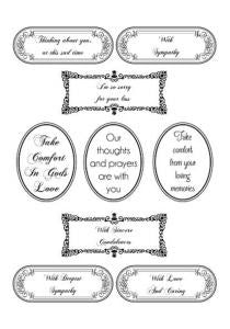 Words of Sincerity Collection Clear Stamp Set By Phill Martin