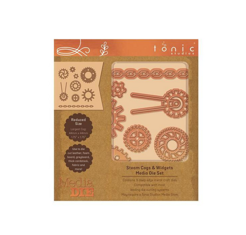 Steam Punk Cogs and Widgets Media Die Set By Tonis Studios 2328e