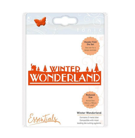 Winter Wonderland Christmas Essentils Header Fold Die Set Tonic Studios 1410e