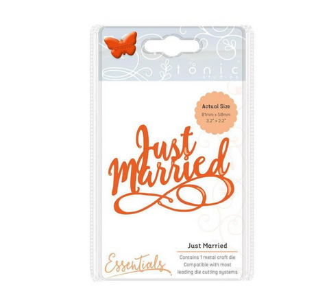 Just Married Miniature Moments Die Set By Tonic Studios 1415e