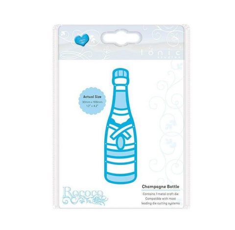 Champagne Bottle Rococo Celebration Die By Tonic Studios 1494e