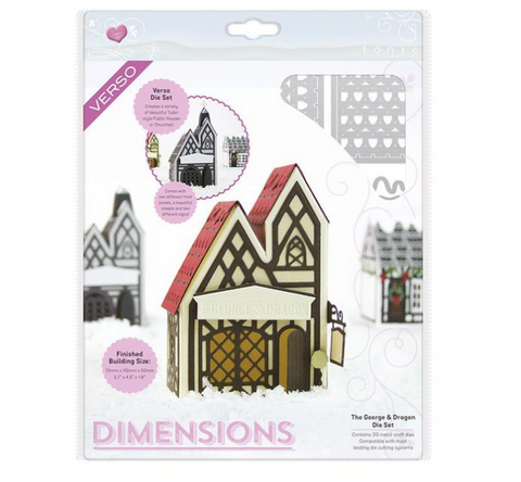 George & Dragon Tudor Town Dimensions Die Set Tonic Studios 1856E