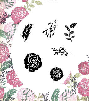 Seasonal Rose Majestix Clear Peg Stamp Set By Card-io