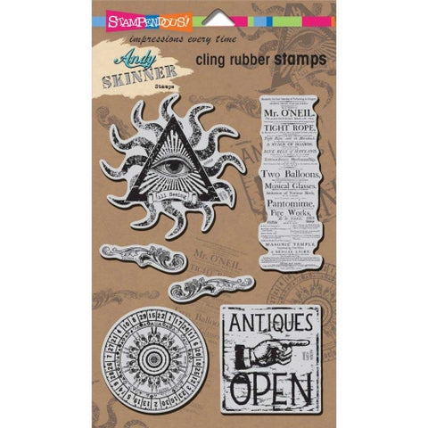 Curiosity Cling Rubber Stamps Andy Skinner By Stampendous ASCRS04