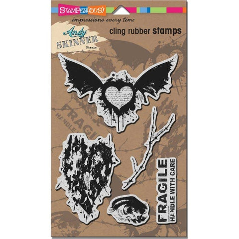 Handle With Care Cling Rubber Stamps Andy Skinner By Stampendous ASCRS07