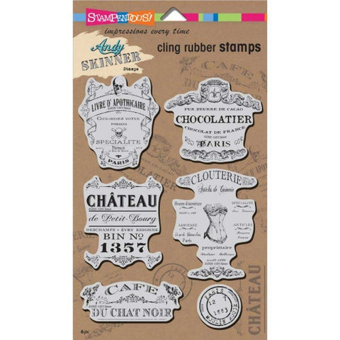 Shabby Chic Cling Rubber Stamps Andy Skinner By Stampendous ASCRS05