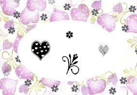 Sweet Hearts Majestix Clear Peg Stamp Set By Card-io