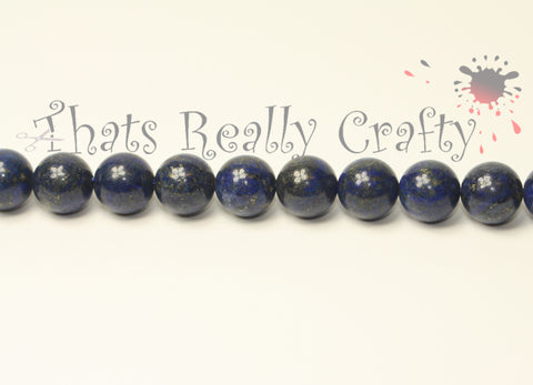 Natural Lapis Lazuli Blue Rounded Beads 10mm TRC017