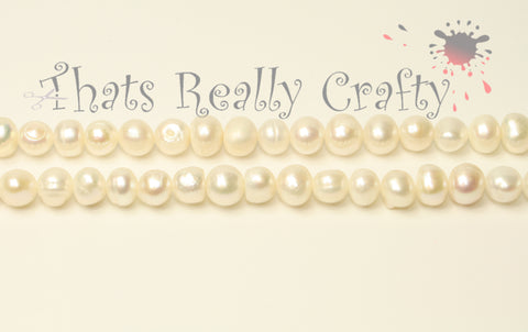 Grade A Natural Pearl Beads Round 6-7mm TRC049