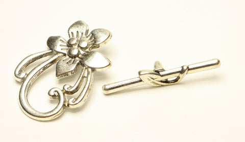Tibetan Style Flower Toggle Clasp Lead Nickel, Cadmium Free 1pcs TRC059