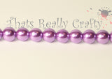 Dark Orchid Pearlised Glass Pearl Beads 10mm TRC092