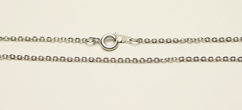 "Necklace Chain With Clasp Platinum Colour Lead & Nickle Free 2mm 18"" Chain TRC135"