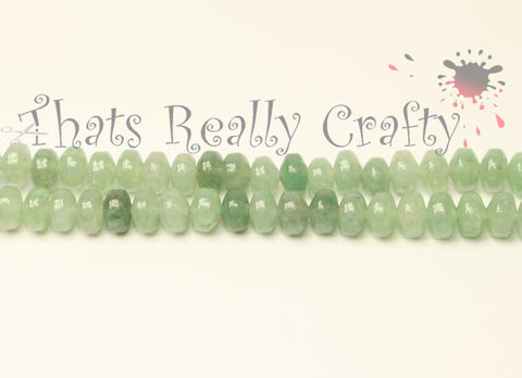 Natural Green Aventurine Abacus Beads Pale Green 6-7x4-5mm Approx 88pcs. TRC159