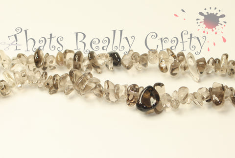 Natural Smoky Quartz Chips Beads 4-12x4-7x2-5mm Approx 310pcs. TRC160