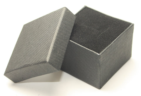 Black Square Jewellery Gift, Ring, Earing Box 5x5x3.5cm TRC169