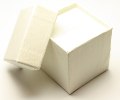 Ivory Square Jewellery Gift, Ring, Earing Box 5x5x5cm TRC173