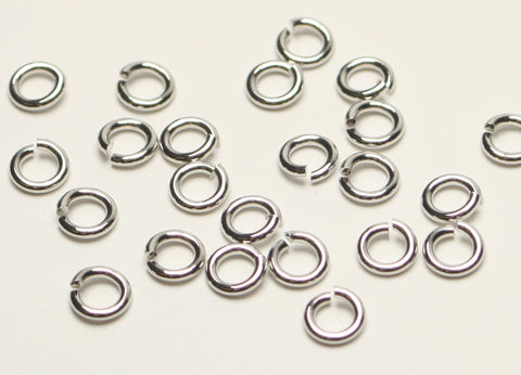 Platinum Plated Round Jump Rings Nickel Free 5mm 1mm Thick. 120pcs TRC206