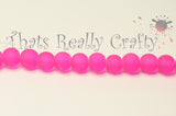 Deep Pink Transparent Glass Round Beads 8mm Approx 50pcs. TRC226