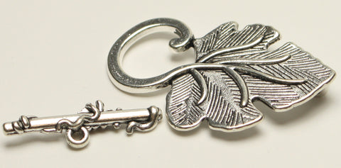 Tibetan Antique Silver Toggle Clasps, Lead Free and Cadmium Free Leaf, 1pcs. TRC257
