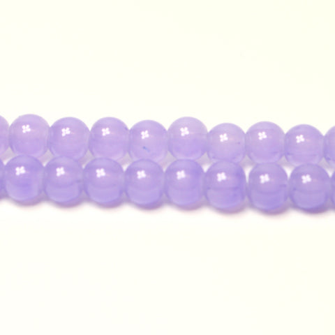 Lavender Jade Style Glass Beads Jewellery Beads 6mm Approx 133pcs Beads TRC279