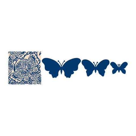 Butterfly Trio by Tattered Lace TRI18